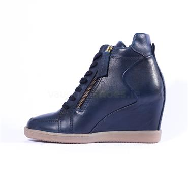 Amy Huberman Show Boat - Navy Leather