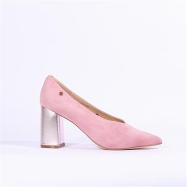 Amy Huberman Top Hat - Pink Suede