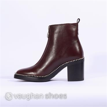 Alpe Ankle Boot Front Zip Naomi - Wine