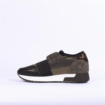 Alpe Estella Casual Trainer With Band - Camouflage