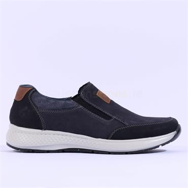 Rieker Men Slip On Shoe Auxerre - Navy Black