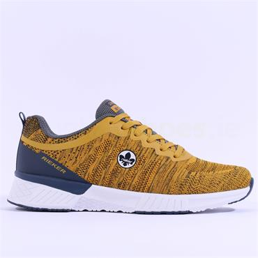 Rieker Men Trainer Knitted Upper - Yellow