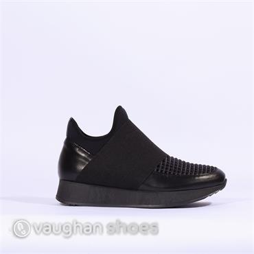 Marco Moreo Platform Shoe With Band - Black