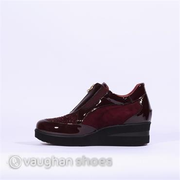 Marco Moreo Wedge With Zip Front - Wine