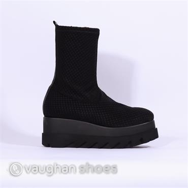 Marco Moreo Platform Stretch Boot - Black