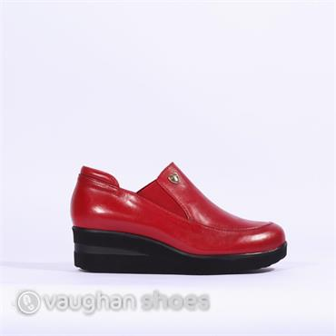 Marco Moreo Slip On Wedge With Gusset - Red
