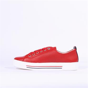 Remonte Platform Laced Shoe Harar - Red