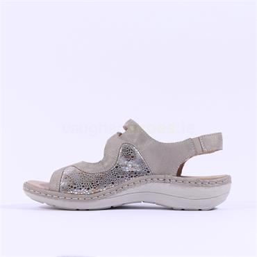 Remonte Filippa 2 Velcro Strap Sandal - Taupe Combi