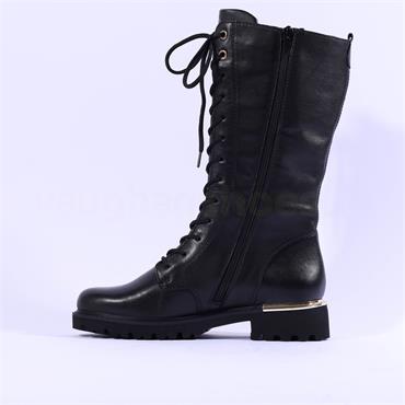 Remonte  Cristallino Laced Boot Side Zip - Black