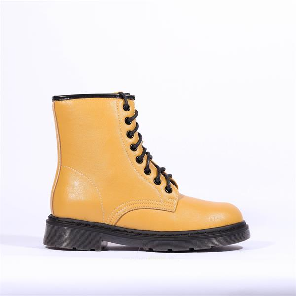 Drilley Bumble Lace Up Boot - Yellow