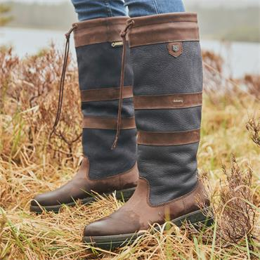 Dubarry Women Galway Country Boot - Navy Brown