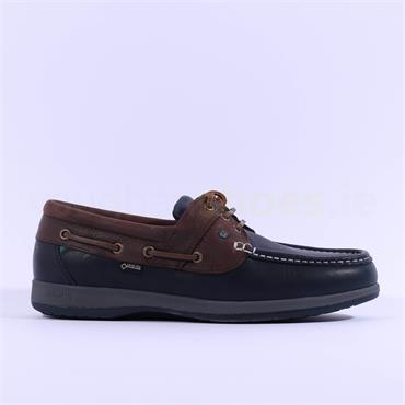 Dubarry Mariner GoreTex Lined Moccasin - Navy Brown