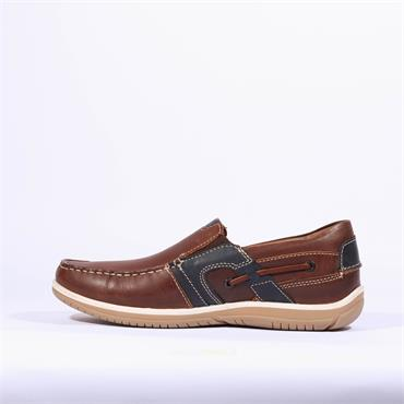 Dubarry Shaun Slip On - Brown Combination