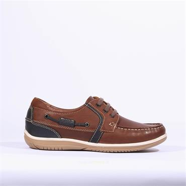 Dubarry Men Sheen Laced Shoe - Brown Combination