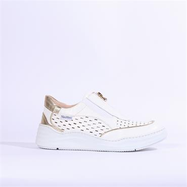 Marco Moreo Arena Front Zip Shoe - White Gold