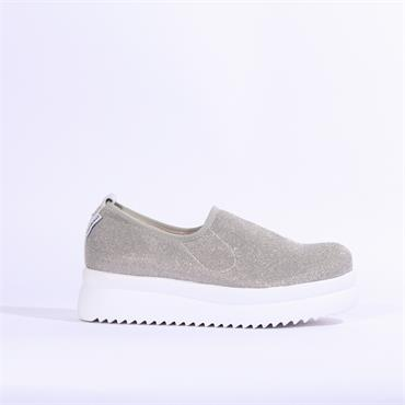 Marco Moreo Fifi Slip On Platform Shoe - Silver