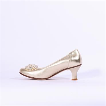 Marco Moreo Lucy Kitten Heel Butterfly - Gold