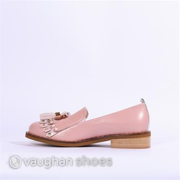 Marco Moreo Rebecca Loafer Tassel Detail - Baby Pink