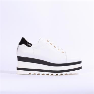 Marco Moreo Luna Laced Platform Shoe - White black
