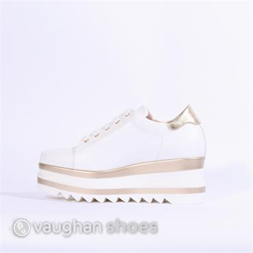 Marco Moreo Luna Laced Platform Shoe - White