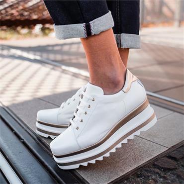 Marco Moreo Luna Laced Platform Shoe - White