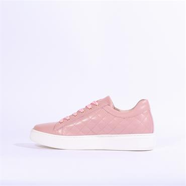 Marco Moreo Tania Quilted Trainer Studs - Dark Pink