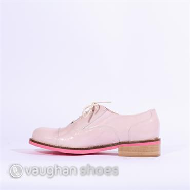 Marco Moreo Rebecca Laced Toe Cap Brogue - Baby Pink Patent