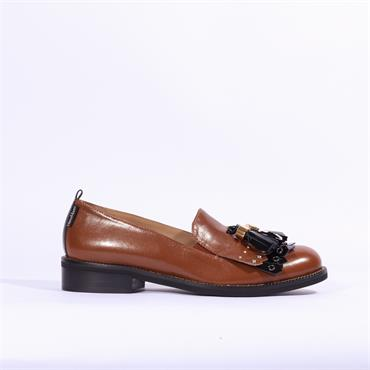 Marco Moreo Rebecca Loafer Tassel Detail - Tan