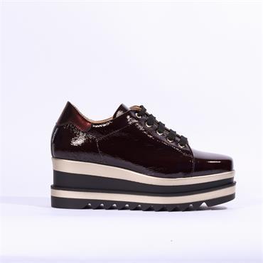 Marco Moreo Luna Laced Platform Shoe - Burgundy