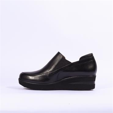 Marco Moreo Lola Slip On Gusset Wedge - Black