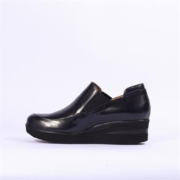Marco Moreo Lola Slip On Gusset Wedge - Navy