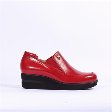 Marco Moreo Lola Slip On Gusset Wedge - Red