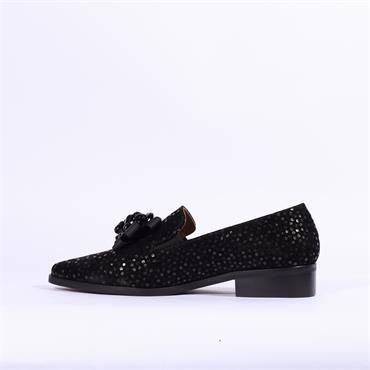 Marco Moreo Bianca Brooch Detail Loafer - Black