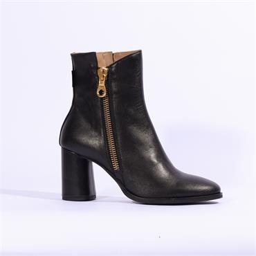 Marco Moreo Giulia Block Heel Ankle Boot - Black
