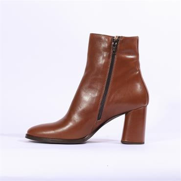 Marco Moreo Giulia Block Heel Ankle Boot - Tan