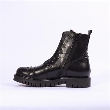 Marco Moreo Kate Stud Biker Boot - Black