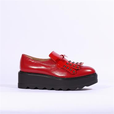 MARCO MOREO DEE STUD APRON SHOE - Red