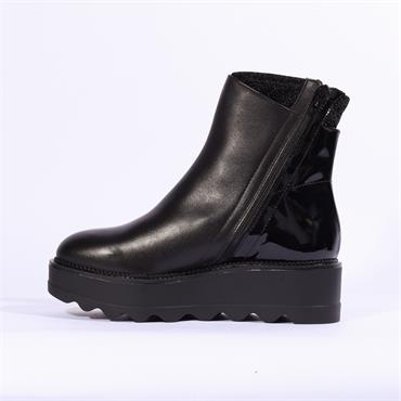 MARCO MOREO DEE SIDE ZIP ANKLE BOOT - Black