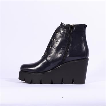 Marco Moreo Gilda Platform Ankle Boot - Navy