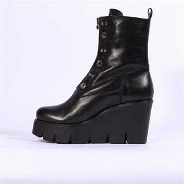 Marco Moreo Gilda Front Zip Stud Boot - Black
