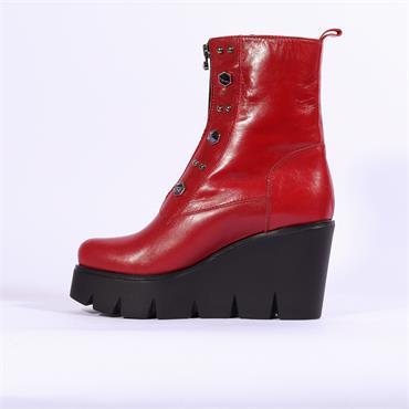 Marco Moreo Gilda Front Zip Stud Boot - Red