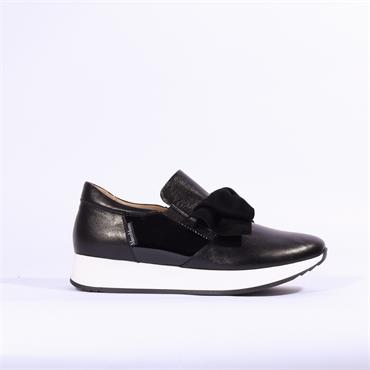 Marco Moreo Enrica Bow Detail Trainer - Black