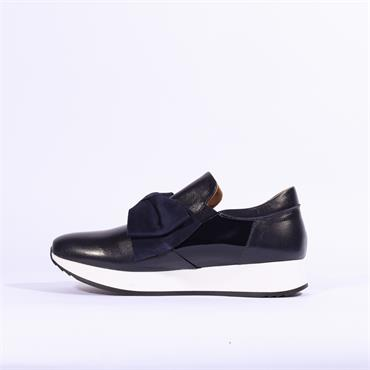 Marco Moreo Enrica Bow Detail Trainer - Navy