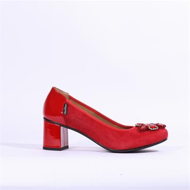 Marco Moreo Lucy Brooch Court Shoe - Red