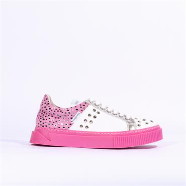 Marco Moreo Diana Stud Casual Trainer - Pink Leopard Combi