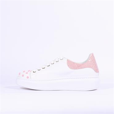 Marco Moreo Eros Stud Toe Trainer - White Pink