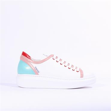 Marco Moreo Eros Laced Casual Trainer - White Combi