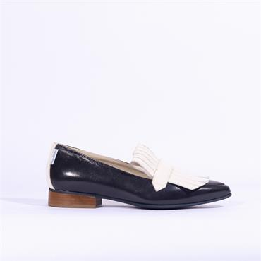 Marco Moreo Bianca Loafer Apron Detail - Navy Cream