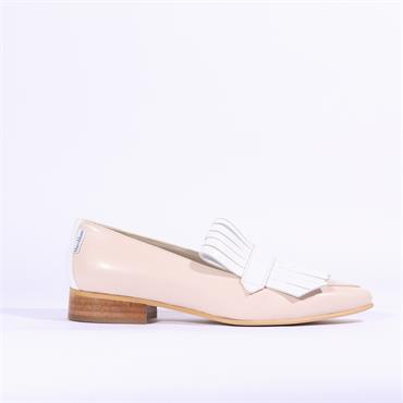 Marco Moreo Bianca Loafer Apron Detail - Nude Cream