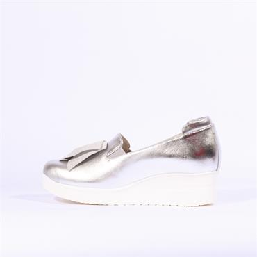 Marco Moreo Lola Wedge Jewel Bow - Silver